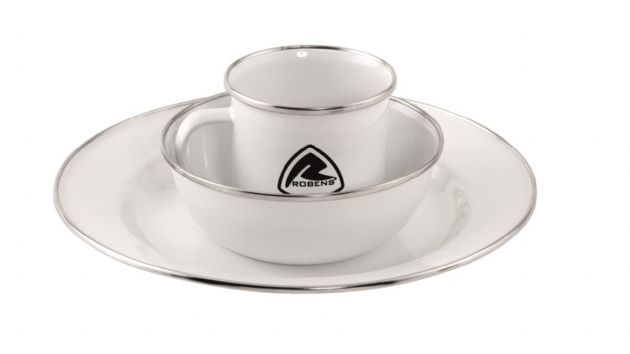 Robens Tongass Single Enamel Set, Camping Tableware - Grasshopper Leisure